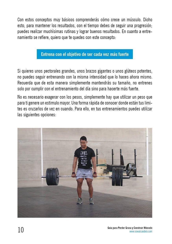 Guía para perder grasa y construir músculo